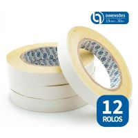 Fita Dupla Face 12 un. 19mm x 30m